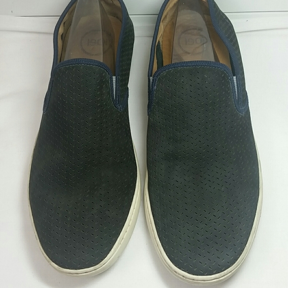 1901 Shoes   Navy Blue Leather Slip On